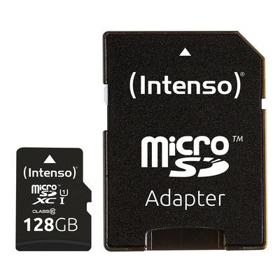 Intenso 128GB microSDXC Flashgeheugen - Zwart