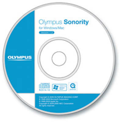 Olympus service managementsoftware: Sonority Plus CD-ROM