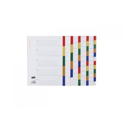Staples schutkaart: Tabblad SPLS A4 11r kleurentab kart/se10