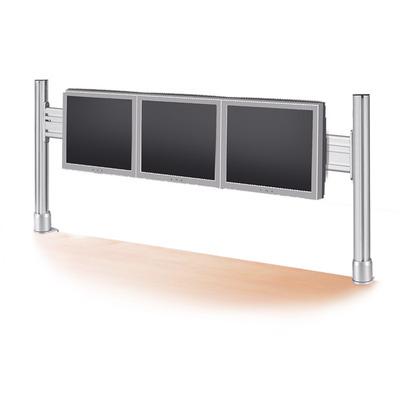 ROLINE LCD brug, voor 3 x 56 cm monitoren, tafelklem montage Monitorarm - Zilver