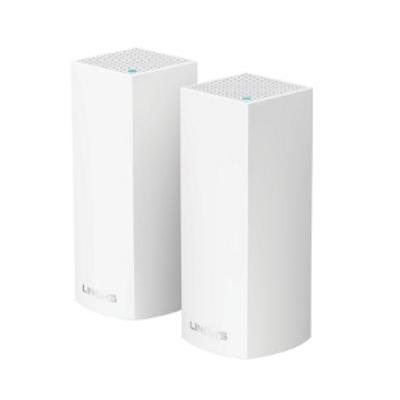 Linksys wireless router: Velop Tri-Band AC6600 Mesh Starter Kit (2-Pack) - Wit