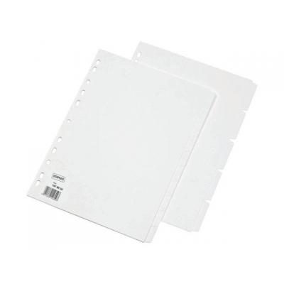 Staples schutkaart: Tabblad SPLS A4 11r blanco karton/set 10