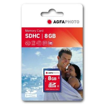 AgfaPhoto 8GB SDHC Memory card Flashgeheugen - Blauw