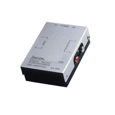 Hama Stereo Phono Preamplifier PA 005 Reciever - Zwart, Zilver
