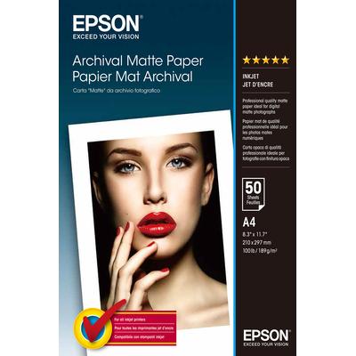 Epson Archival, DIN A4, 192 g/m² Fotopapier - Wit