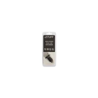 ESTUFF oplader: USB Car Charger 1.2A - Zwart