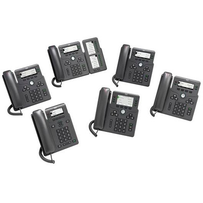 Cisco 6861 IP telefoon - Zwart