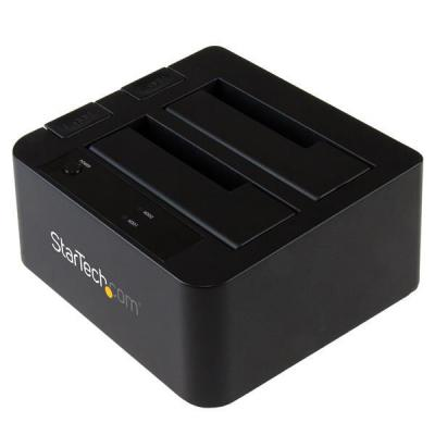 """Startech.com HDD/SDD docking station: USB 3.1 (10bps) dubbel harddisk docking station voor 2,5 en/of 3,5"""" SATA SSD/HDD ....."""