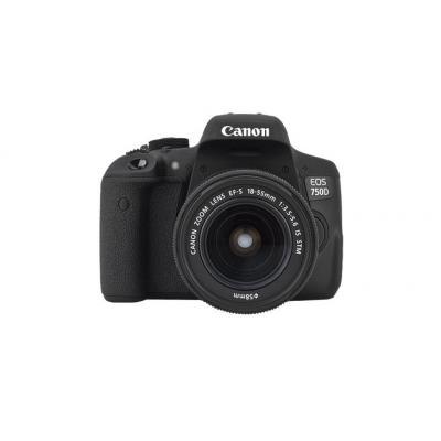 Canon digitale camera: EOS 750D + EF-S 18-55 IS STM - Zwart