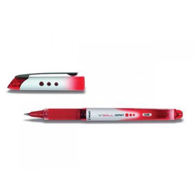 Pilot pen: Rolschrijver Vball Grip 0,3mm rood/et 12