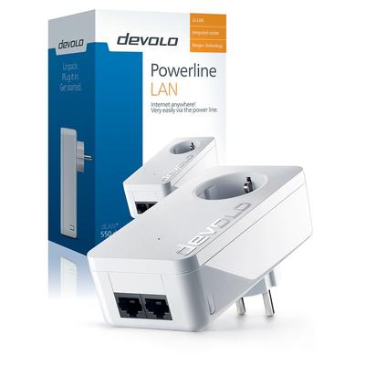 Devolo dLAN® 550 duo+ Powerline adapter - Wit