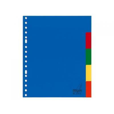 Kangaro schutkaart: Tabblad A5 blanco PP 120mµ assorti 17r 5dlg - Blauw