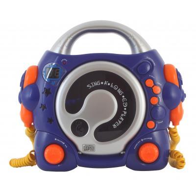 Bigben interactive karaoke systeem: Draagbare CD speler met karaoke functie - Blauw - Blauw, Oranje, Zilver