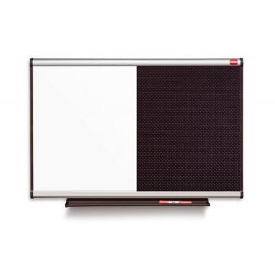 Nobo prikbord: Prestige Combibord Memo-/Whiteboard Zwart 900 x 600 mm - Zwart, Wit