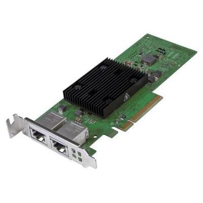 Dell netwerkkaart: Broadcom 57406 10G Base-T Dual Port PCIe Adapter, Low Profile, Customer Instal - Groen
