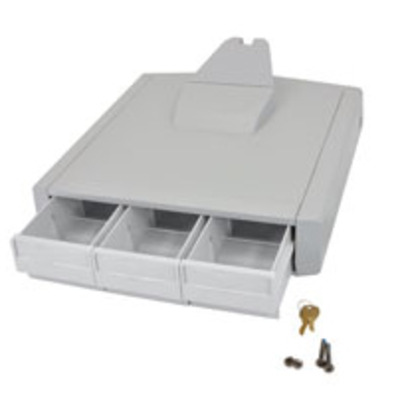 Ergotron multimedia accessoire: SV Primary Storage Drawer, Triple - Grijs, Wit