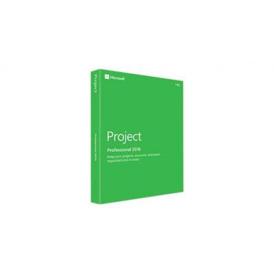 Microsoft project management software: Project Professional 2016, 1u