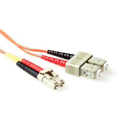 Ewent 5 meter LSZH Multimode 62.5/125 OM1 glasvezel patchkabel duplex met LC en SC connectoren Fiber optic kabel - .....