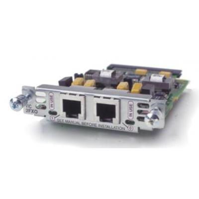 Cisco voice network module: Two-port Voice Interface Card **New Retail** (Refurbished LG)