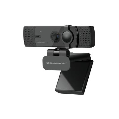 Conceptronic AMDIS 4K Ultra HD Autofocus Wide Angle with Dual Microphone Webcam - Zwart