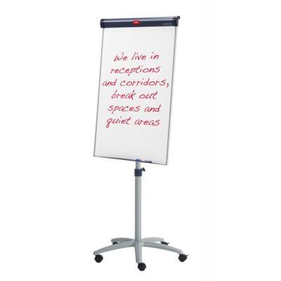 Nobo whiteboard: Barracuda Flipover Magnetisch Mobiel - Blauw, Zilver, Wit