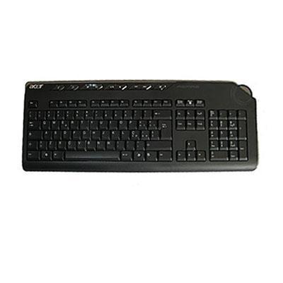 Acer toetsenbord: Keyboard Wireless KG-0766 RF2.4 Standard 104KS With eKey Black Arabic/English with eKey Vista - Zwart