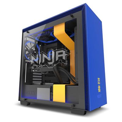 NZXT H700i Ninja Behuizing - Zwart, Blauw