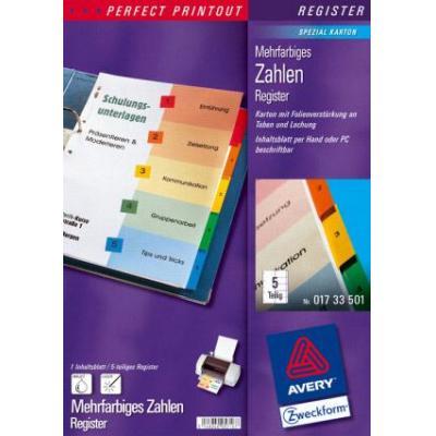 Avery IndexMaker Laser-Copier 1-5 Indextab