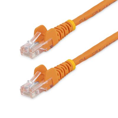 StarTech.com 0,5m Cat5e Ethernet met snagless RJ45 connectors UTP kabel 50 cm oranje Netwerkkabel