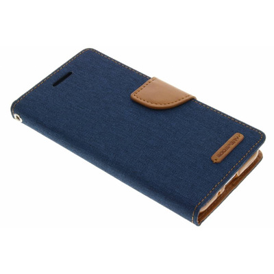 Canvas Diary Booktype Samsung Galaxy J3 / J3 (2016) - Blauw / Blue Mobile phone case
