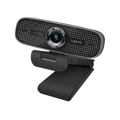 LogiLink Full HD, 30 fps, f/2.2, 100°, USB, 1.6 m, 87 x 64 x 53 mm, 138 g Webcam - Zwart
