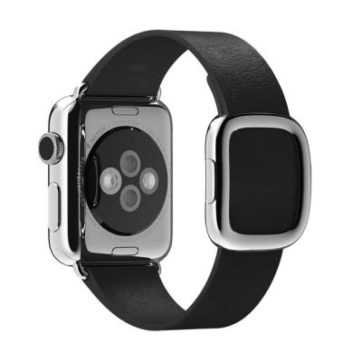 Apple : Zwart bandje, moderne gesp 38 mm, Medium