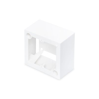 Digitus Surface mount box for faceplates 80x80 mm, color pure white, French layout Inbouweenheid - Wit