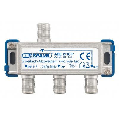 Spaun ABE 2/10 P Kabel splitter of combiner - Blauw, Zilver