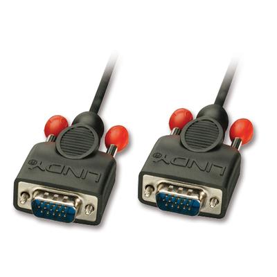 Lindy 2m HD15 VGA kabel  - Zwart