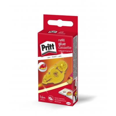 Pritt lijm: Refill Roller Non-Permanent 8.4mmx16m - Geel