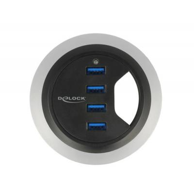 Delock hub: 5Gbps, USB 2.0, USB 3.0, VL813 - Zwart