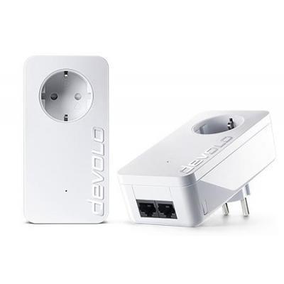 Devolo powerline adapter: dLAN 1000 duo+ - Wit