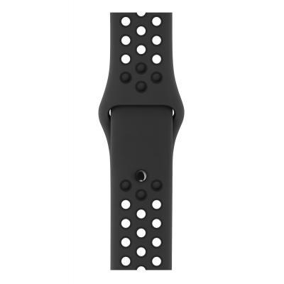 Apple : Antraciet/zwart sportbandje van Nike (42 mm) - Antraciet, Zwart