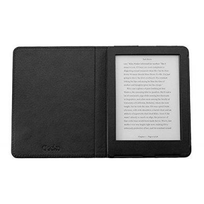 Gecko e-book reader case: Deluxe Cover for Kobo Glo HD, Black - Zwart