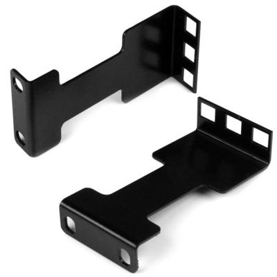 StarTech.com Raildiepte adapterset voor server racks 10 cm Rack verlenging 1U Rack toebehoren - Zwart