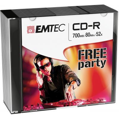 Emtec CD: CD-R, 700MB, 10pcs.