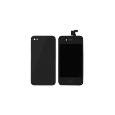 Microspareparts mobile mobile phone spare part: iPhone 4S black 3pcs kit - Zwart