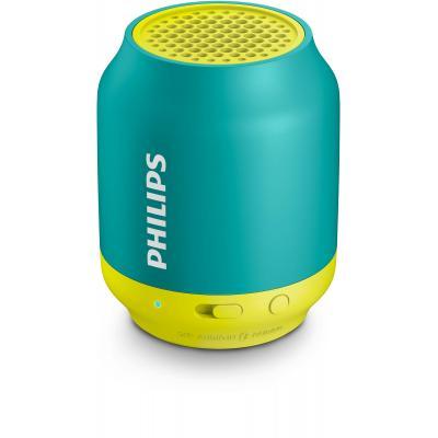 Philips draagbare luidspreker: draadloze draagbare luidspreker BT50A/00 - Groen, Geel