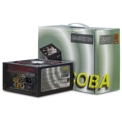 Inter-Tech COBA CS-550it Power supply unit - Zwart