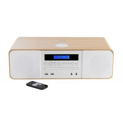 Thomson 60 W, Bluetooth, DAB+, FM, AUX-IN 3.5mm, USB, AC 230V Home stereo set - Wit, Hout