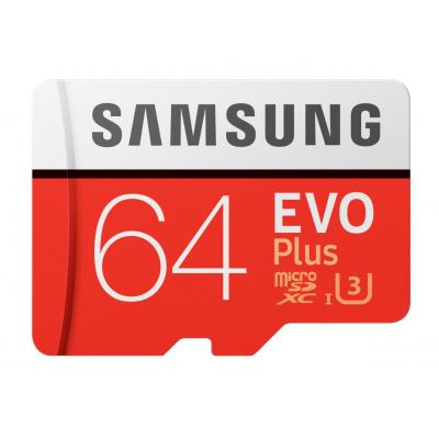 Samsung flashgeheugen: EVO Plus MB-MC64G - Rood, Wit