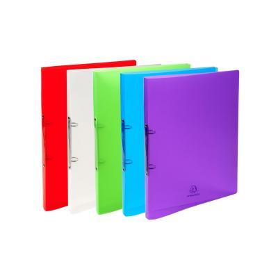 Exacompta ringband: Crystal, PP, A4, 5 Kleuren geassorteerd - Blauw, Groen, Rood, Transparant, Violet