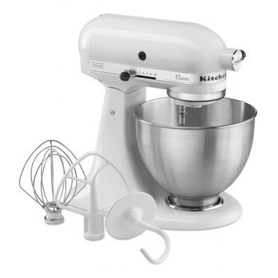 Kitchenaid keuken & huishoudelijke accessoire: 4,28 L CLASSIC STAND MIXER - Metallic, Wit