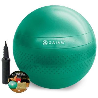 Gaiam fitness, gymnastiek & gewichtstraining: Gaiam, Total Balance Ball Kit met DVD (Medium - 65cm)